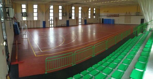 Palestra Fontevivo Sport Leafness dettaglio tribune